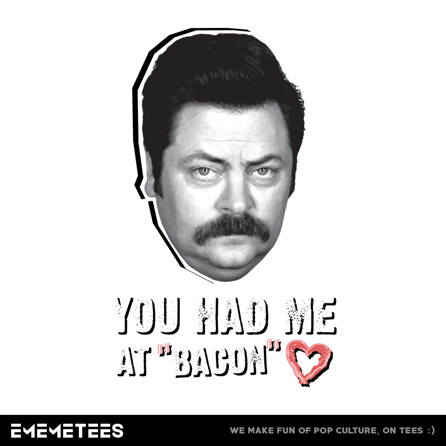 You Had Me At Bacon (męska koszulka t-shirt)