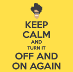 Keep Calm And Turn It OFF (damska koszulka t-shirt)
