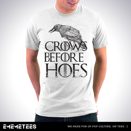 Crows Before Hoes (męska koszulka t-shirt)