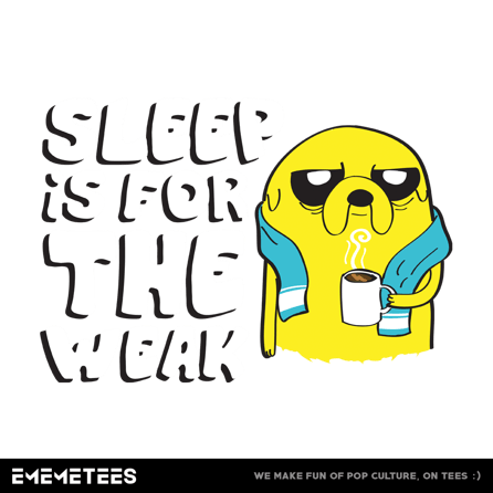 SLEEP IS FOR THE WEAK (męska koszulka t-shirt)