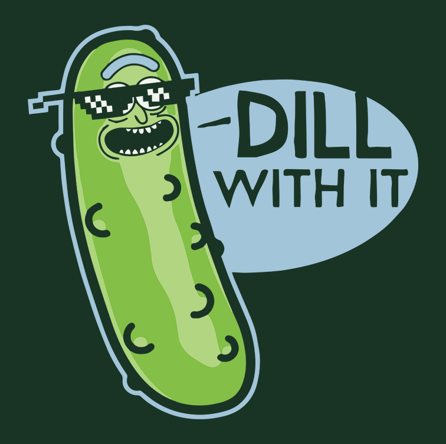Dill With It (męska koszulka t-shirt)