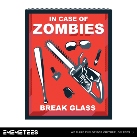 In Case Of Zombies (damska koszulka t-shirt)