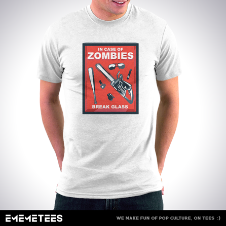 In Case Of Zombies (męska koszulka t-shirt)