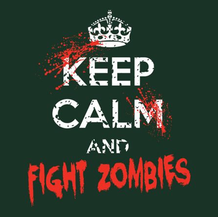 Calm Zombie Fighting (męska koszulka t-shirt)