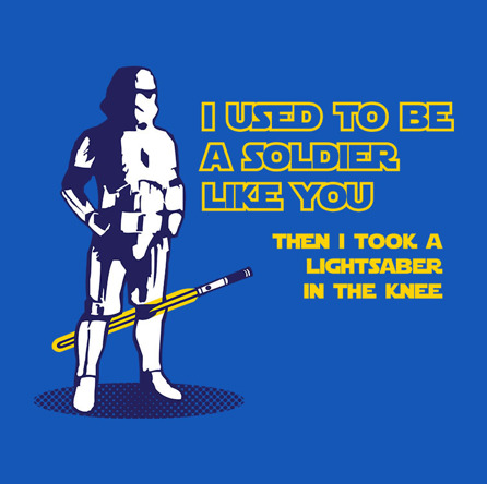 Lightsaber In The Knee (męska koszulka t-shirt)