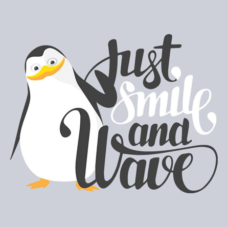 Smile And Wave (męska koszulka t-shirt)