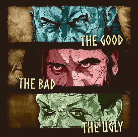 The Good, The Bad, The Ugly (męska koszulka t-shirt)