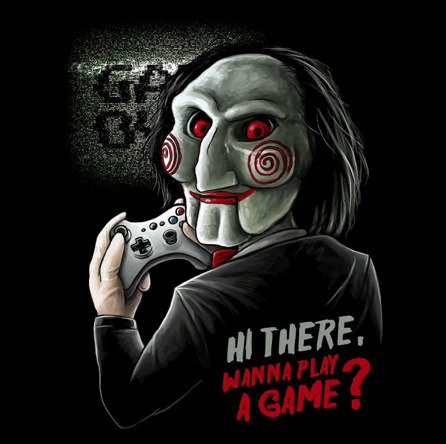 Wanna Play a Game? (męska koszulka t-shirt)