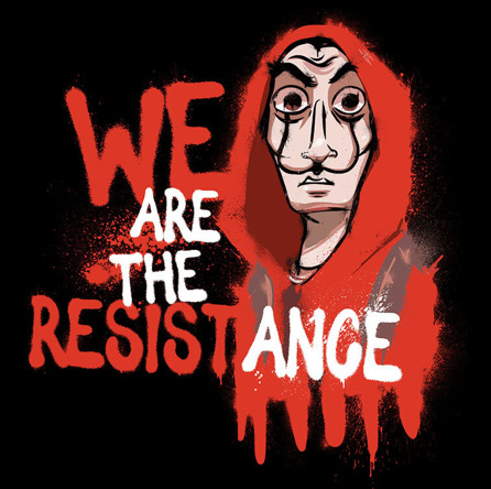 We Are The Resistance (męska koszulka t-shirt)