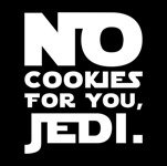 No Cookies For Jedi (męska koszulka t-shirt)
